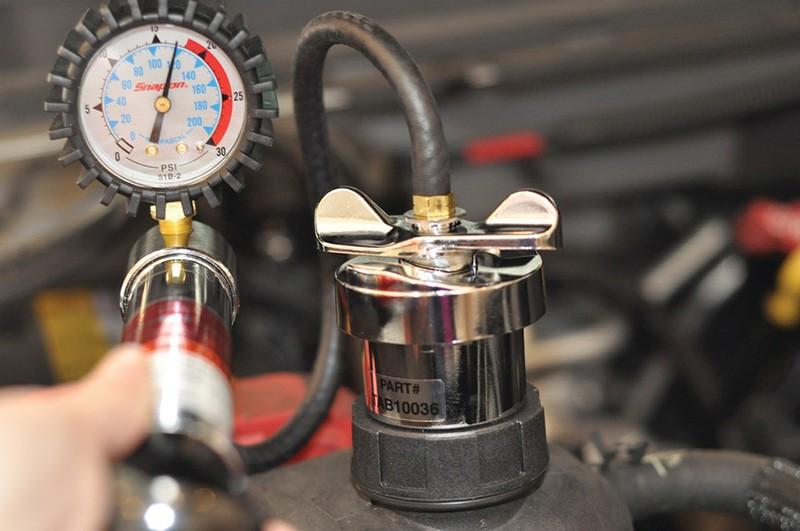 تست فشار درب رادیاتور